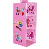 Подвесные модули в шкаф маленькая модница (3 отделения), цвет розовый