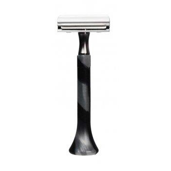 Станок для бритья erbe с двумя лезвиями, цвет хром, ручка- силикон, цвет: