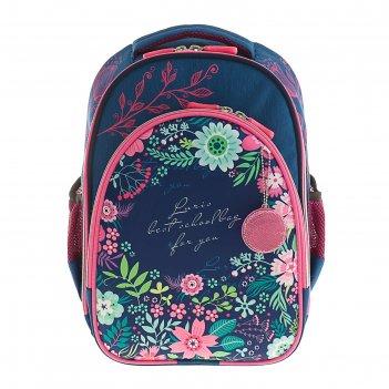 Рюкзак каркасный luris джерри 2 38x28x18 см для девочки, «цветочки»