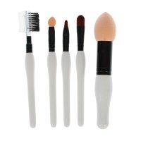 Набор кистей для макияжа, 5 предметов, цвет белый