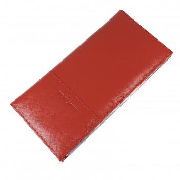 Визитница 24/192 натуральная кожа, цвет красный