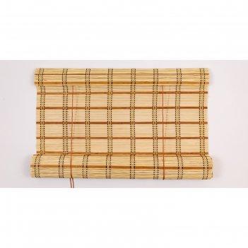 Бамбуковая рулонная штора, размеры 90х220 см
