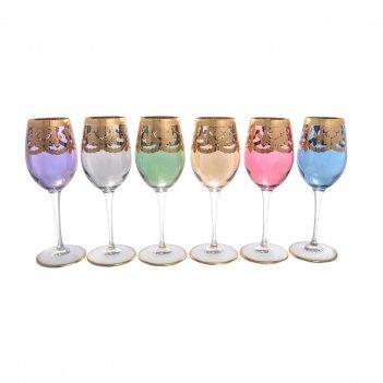 Набор бокалов для вина liric art decor