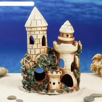 Декорации для аквариума две башни