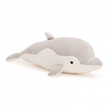 Мягкая игрушка «дельфин софтик» серый, 53 см