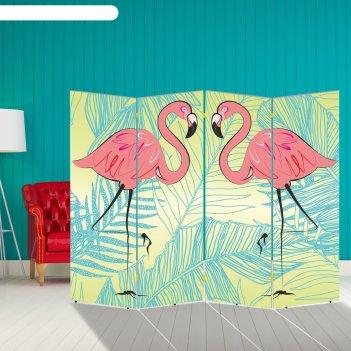Ширма розовый фламинго, 200 x 160 см