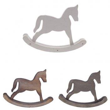 Фигурка декоративная лошадь, l12 w15 h2 см, 3в., (б/инд.уп)