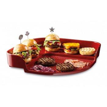 Бургер барбекю от emile henry (красный)