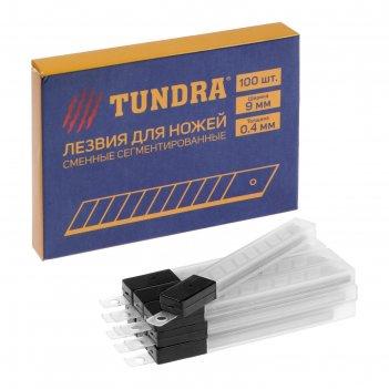 Лезвия для ножей tundra сегментированные 9х0,4 мм (набор 10 шт, по 10 лезв