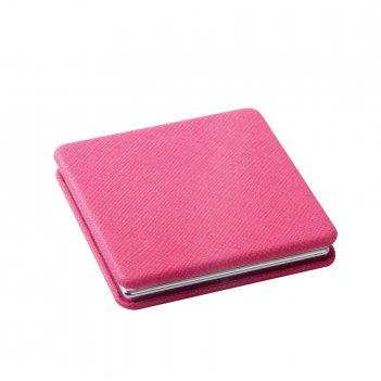 Зеркало dewal beauty серия палитра карманное квадратное, красн