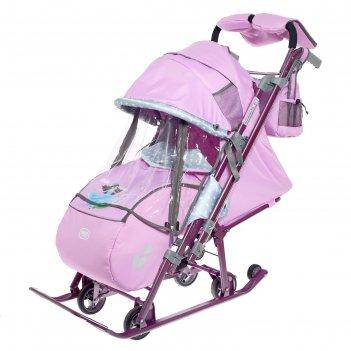Санки-коляска «ника детям 7-4», цвет лилия