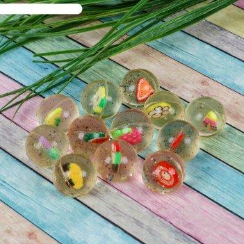 Мяч каучук фрукты 2,7 см, виды микс