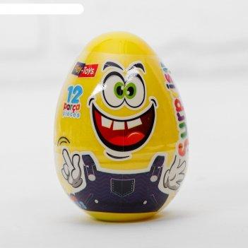 Тесто для лепки эмоции, пасхальное яйцо, 3 цвета по 20 г, формы, нож, стек