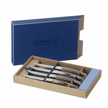 Набор столовых ножей opinel vri birchwood из 4-х штук (нержавеющая сталь,