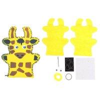 Набор для творчества - кукольный театр из фетра жирафик