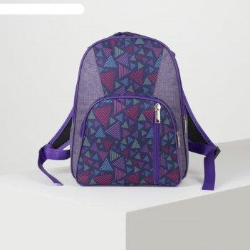 Рюкзак школьн рм-04, 30*11*38, 2 отд на молниях, 2 н/кармана, треугольники