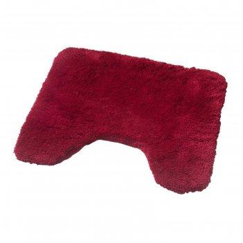 Коврик для ванной комнаты istanbul, цвет красный 50х50 см