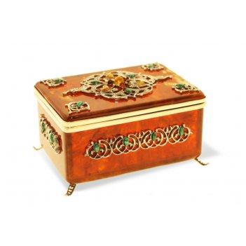 Коробочка для чая восточная сказка из янтаря
