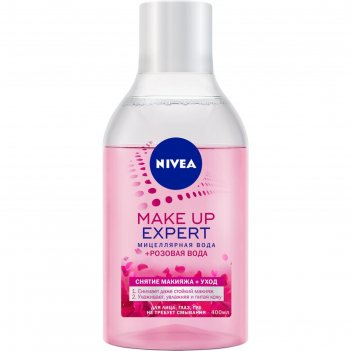 Вода мицеллярная nivea make up expert с розовой водой, 400 мл