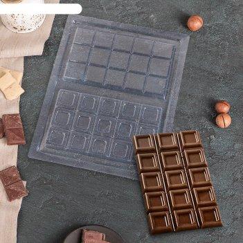 Форма для шоколада плитка шоколада 26,5x21 см