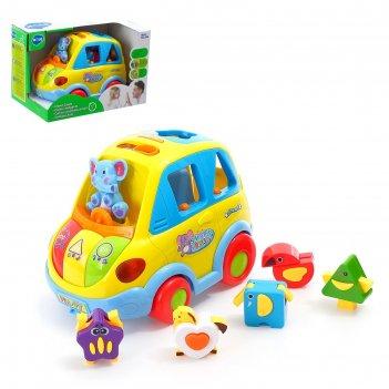 Развивающая игрушка умный автобус, световые и звуковые эффекты,сортер