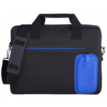 Сумка для ноутбука silicomp, черная с синим