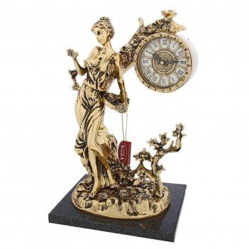 Часы настольные флора