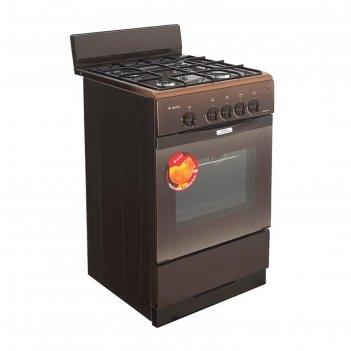 Плита газовая gefest 3200-08 k86, 4 конфорки, 42 л, газовая духовка, корич