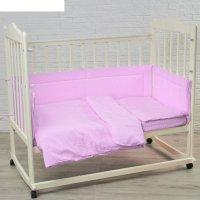 Комплект в кроватку карамельки (6 предметов), цвет сиреневый 10603