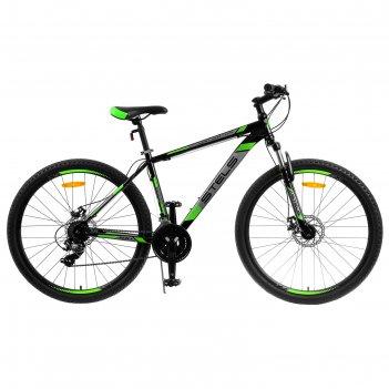 Велосипед 27.5 stels navigator-700 md 27.5 v020 , цвет чёрный/зелёный, раз