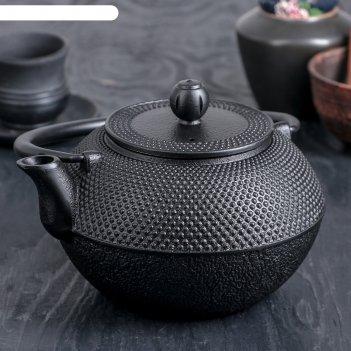 Чайник с ситом 1,2 л восточная ночь. этно с эмалированным покрытием, цвет
