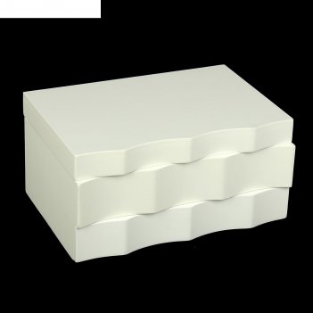 Шкатулка комод - волна белая