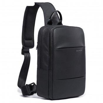 Рюкзак   c usb,  молодежный, на одной лямке bange bg77107 черный, 9.7