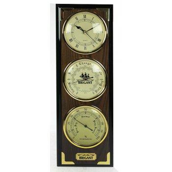 Часы-метеостанция brigant барометр, часы, гигрометр 41*14*5с