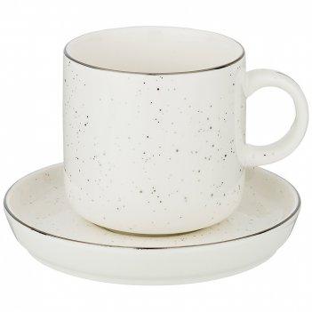 Чайный набор на 1пер. 2пр. platinum 330мл (мал=2наб./кор=24наб.)