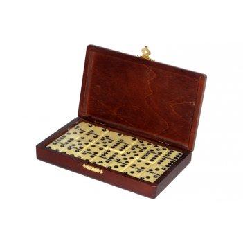 Rt-05.s домино турнирное d6 в деревянной шкатулке без флока