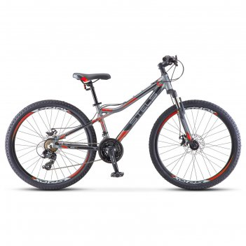 Велосипед 26 stels navigator-610 md, v040, цвет антрацитовый/красный, разм