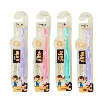 Зубная щетка kids safe, детская, 7-12 лет, микс