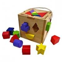 Кубик развивающий сортер и головоломка, кор.