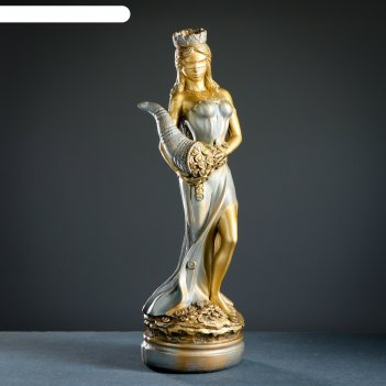 Фигура фортуна большая золото-серебро 64х20х20см