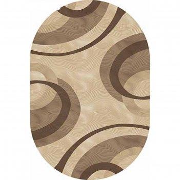 Ковёр карвинг хит-сет mega carving 4783, 0,8*1,5 м, овал, beige