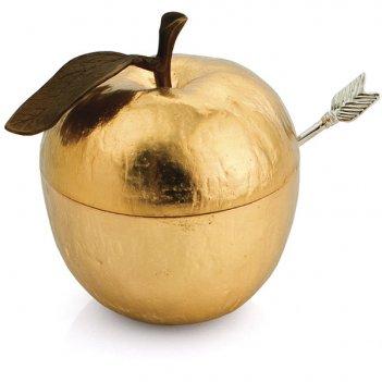 Банка для меда michael aram золотое яблоко 11см (золотистая)