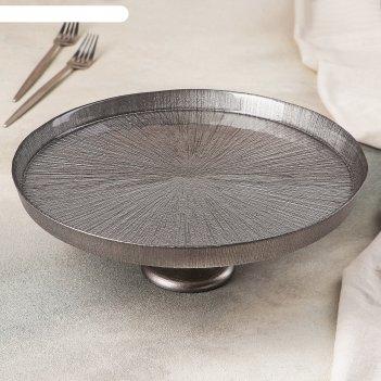 Блюдо для торта на ножке «кувшинка индиана», 28 см