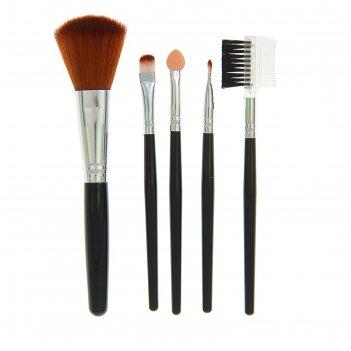 Набор для макияжа 5 предметов, цвет коричневый