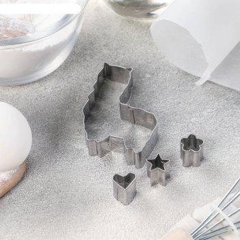 Набор форм для вырезания печенья «лама» 4 шт, 7x5x1,5 см