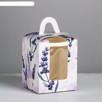 Складная коробка под один капкейк love, 9 x 9 x 11 см