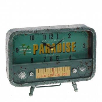 Часы настольные декоративные радиоприемник, l26 w5,5 h20 см, (1хаа не прил