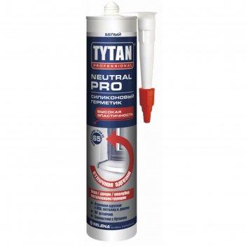 Герметик tytan professional 93572, силиконовый, нейтральный, белый, 310 мл