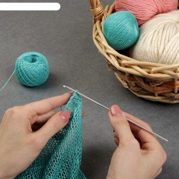 Крючок для вязания, с тефлоновым покрытием, d = 2,5 мм, 15 см