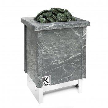 Электрическая печь karina quadro 9 mini, нержавеющая сталь, камень талькох